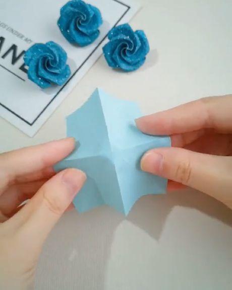 Wie man eine Papierrose faltet – #eine #faltet #ma…