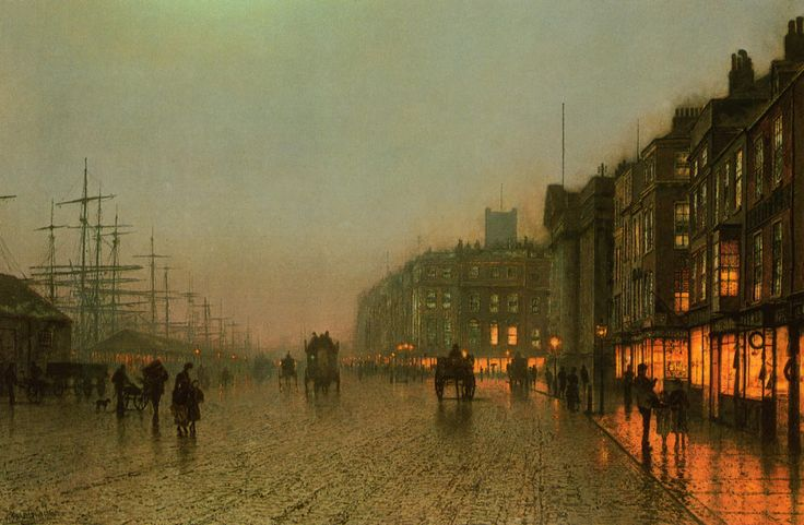 John Atkinson Grimshaw : Liverpool from wapping, 1875