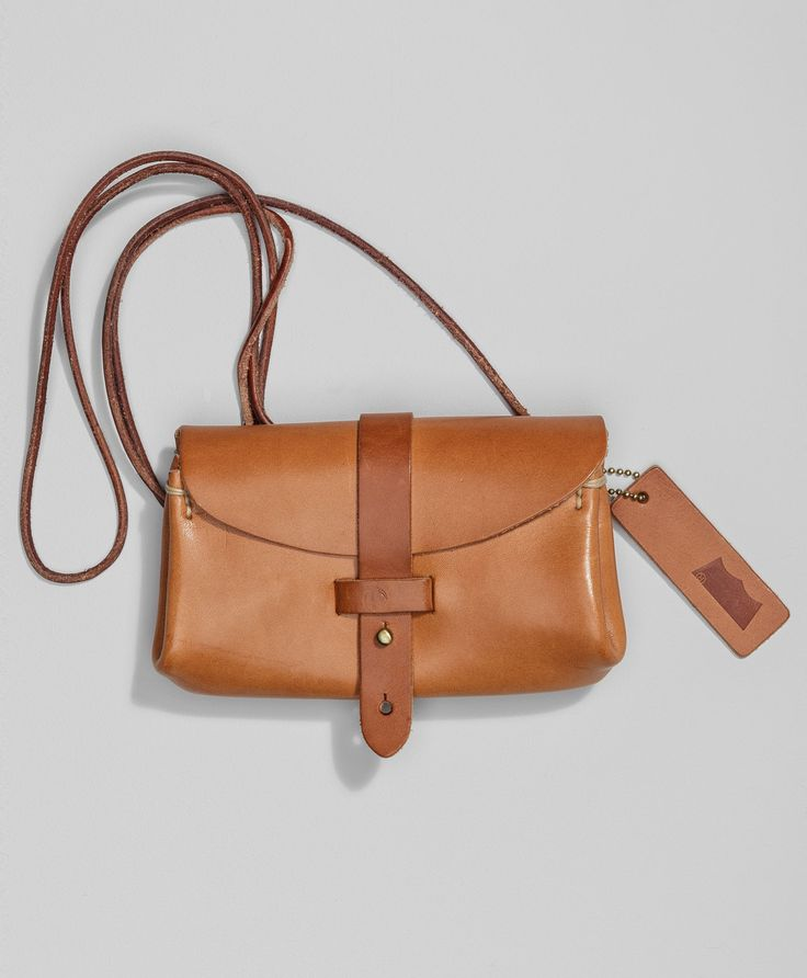 Levi's Crafted Leather Festival Bag - Camel - Bags