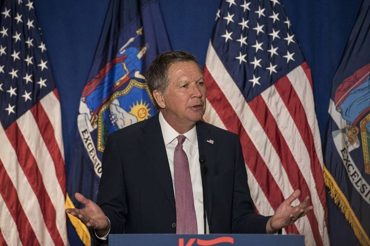 John Kasich's case for Staying in the GOP 2016 Race:Believes Trump won't get 1,237 on 1st ballot,so will be a contested convention.Republican presidential candidate Gov. John Kasich speaks at a press conference on March 30, 2016 in New York City. The Ohio governor held the press conference to address recent comments by Donald Trump on abortion.