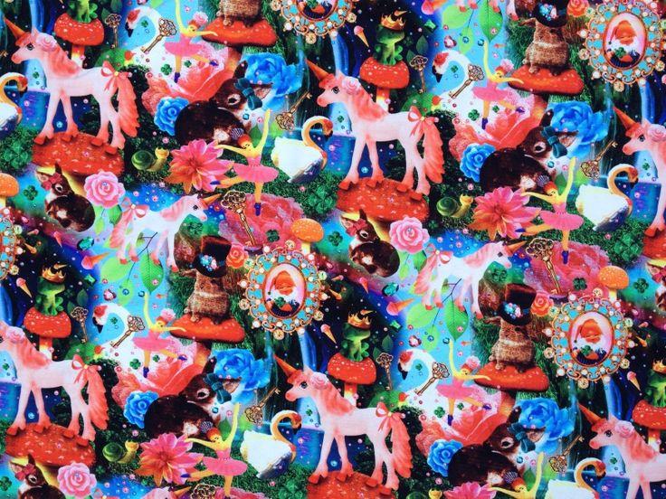 Wonderland, digitale print tricot