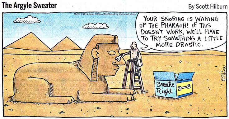 Scott Hilburn shows us how the Sphinx lost its nose.