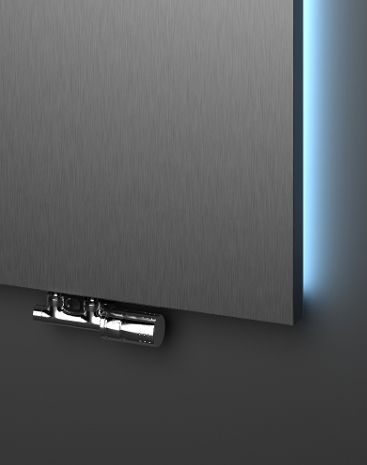 A classic HOTHOT radiator from stainless steel with a white or colourful illumination on sides of the radiator. A possibility to regulate the illumination with a digital controler. A basis of this model is Velvet radiator. HOTHOT Exclusive a.r.o.
