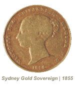 Image showing the front of Australia's first gold sovereign