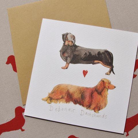 Dachshund Sausage Dog Cards Debonair Dachshunds