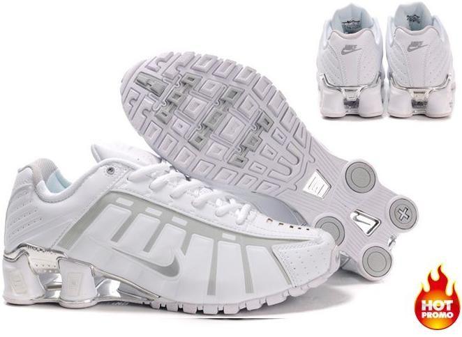 asneakers4u.com Mens Nike Shox NZ 3 OLeven White Grey Silver1