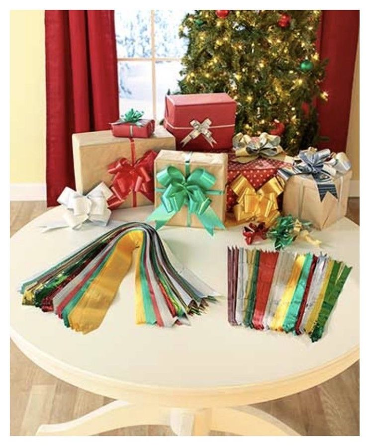 100 Instant Christmas Pull Bows Present Christmas Gift Wrapping Bows   | eBay  Add a festive finishing touch to your presents with this 100-Pc. Holiday Instant Gift Christmas Pull Bow Set.