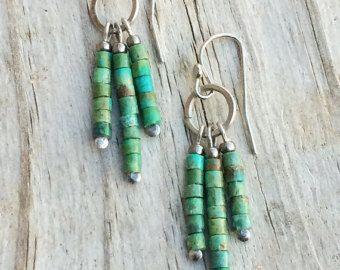 Copper Earrings / Copper and Stone Earrings / by RusticaJewelry