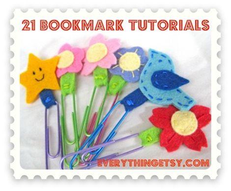 21 Bookmark Tutorials {EverythingEtsy.com}  @Everything Etsy