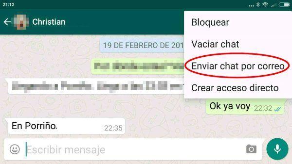 Cómo Enviar Por Correo Electrónico Una Conversación De Whatsapp En Android Trucos Para Whatsapp Borrando Mensajes Notificaciones Whatsapp