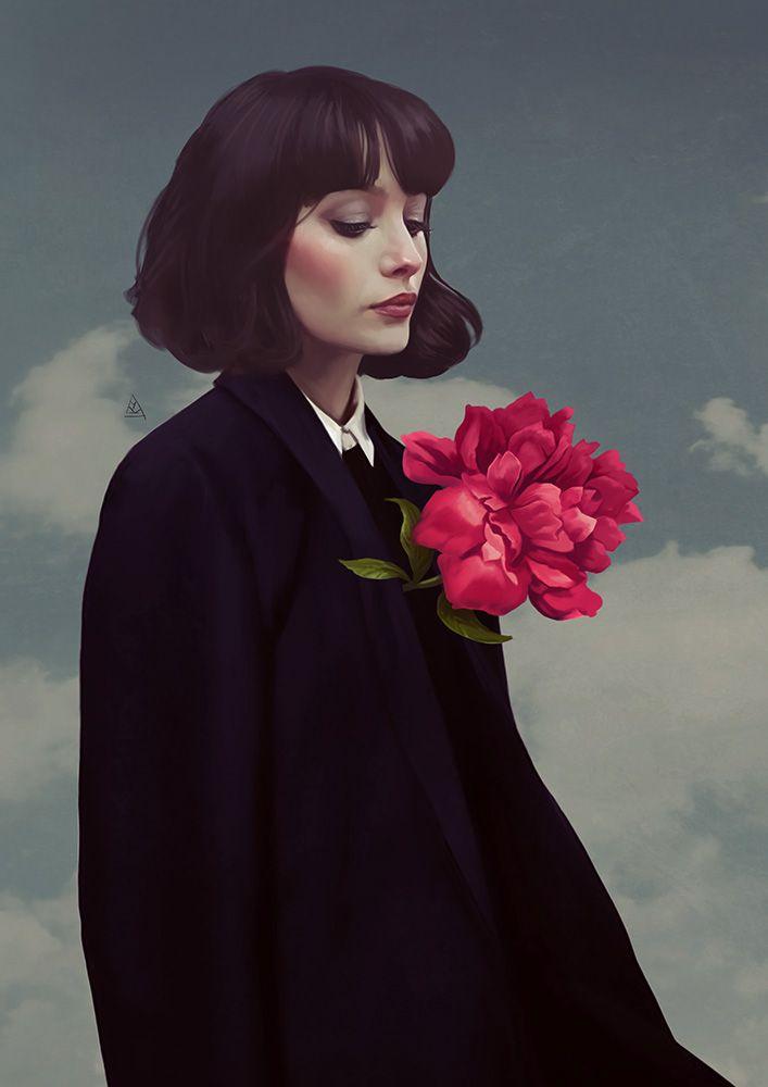 Coração de flor.