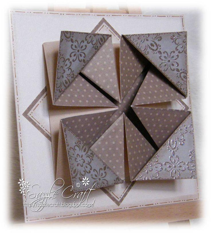 napkin fold card tutor - 736×814
