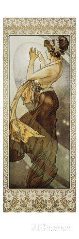 Sterne: Der Polarstern, 1902. (Variante B) Prints by Alphonse Mucha at AllPosters.com