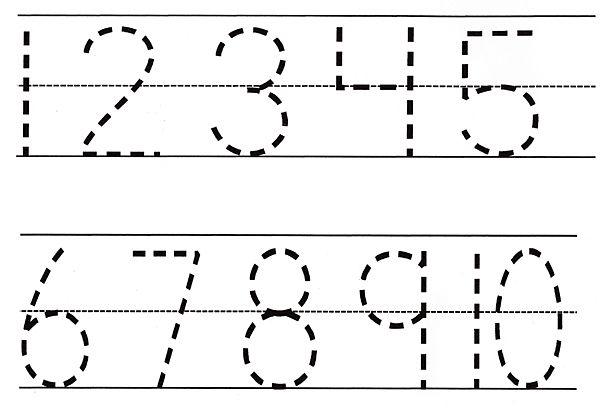 pre-k printables   Number Tracing Pre-K Worksheets
