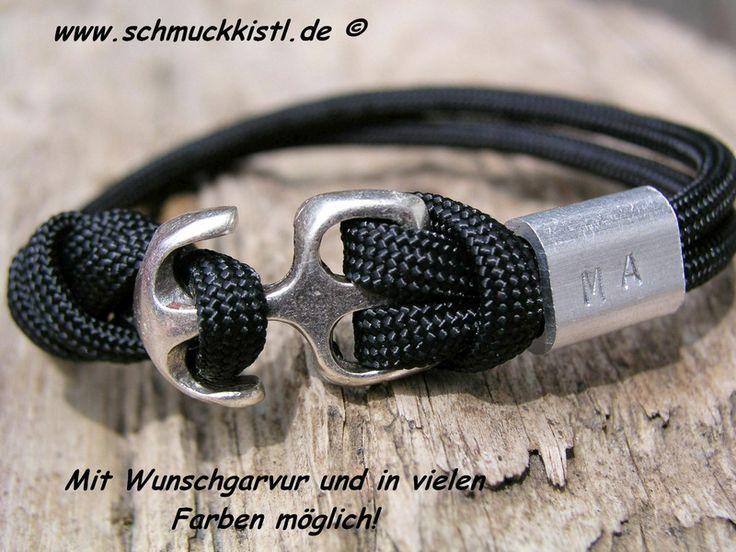 Männerarmband personalisiert Geschenk für Ihn von www.Schmuckkistl.de auf DaWanda