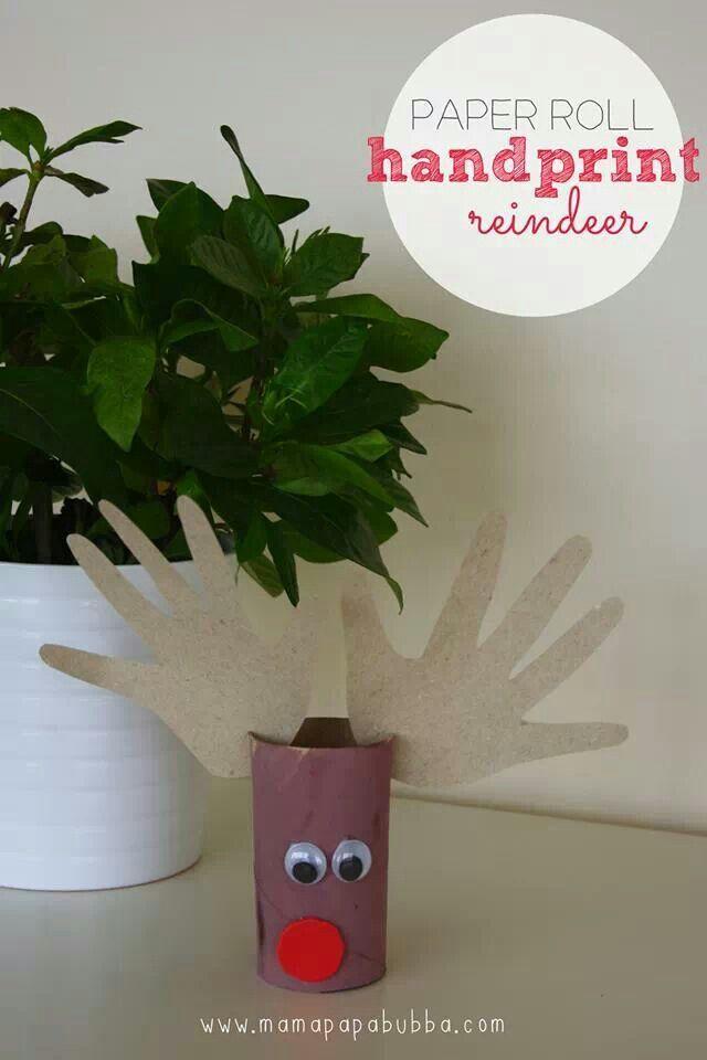 Rudolph Reindeer toliet paper roll craft