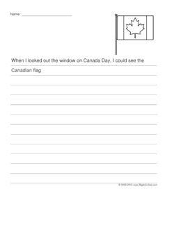 Canada Day creative writing prompt featuring the Canadian flag (story starter for kids)