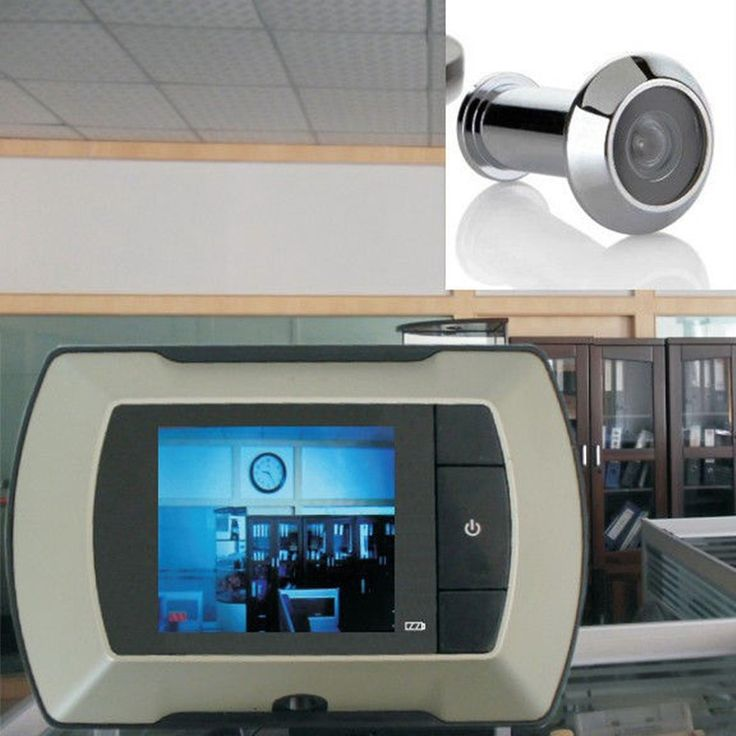 2017 High Resolution 2.4 inch LCD Visual Monitor Door Peephole Peep Hole wired Viewer Indoor Monitor Outdoor Video Camera DIY #Affiliate