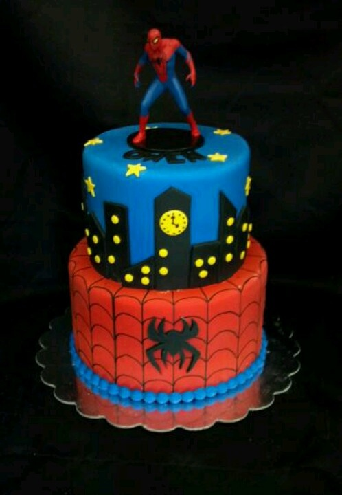 Spiderman Cake Awesome Geekery Cake Superhero Cake