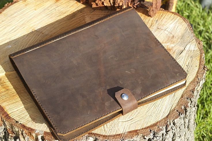 log book cover brown leather truck manual cover by DEADSKIN on Etsy