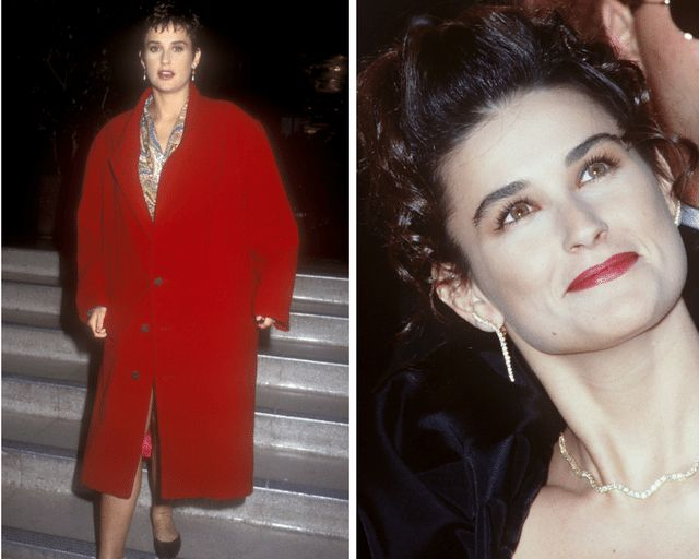 How to look younger. We look back at celebrities who can look years older than they really are just because of bad hair and makeup.: Demi Moore in November 2014