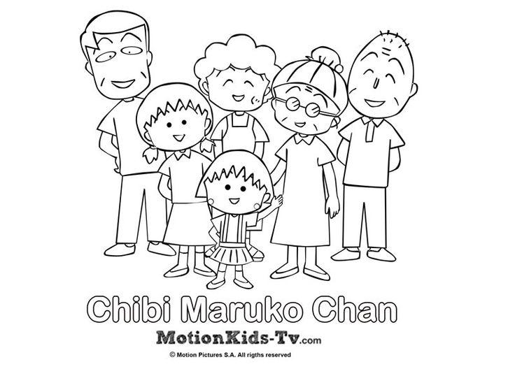 Dibujos De Familia Imágenes Para Colorear Y Pintar: Dibujito De La Familia De Maruko, Dibujos Para Colorear