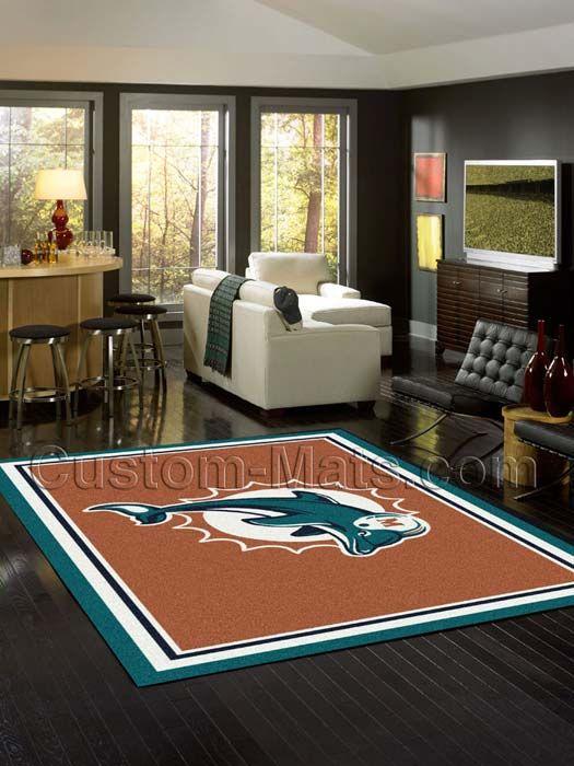 Custom-Mats by Gallant | Custom Mats - Miami - Miami Dolphins NFL Spirit Rug -