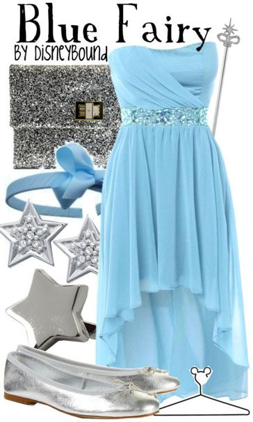 Blue Fairy by disneybound: Inspiration Outfits, Disney Outfits, Blue Fairies, Halloween Costumes, Disney Clothing, Disney Bound, Disneybound, The Dresses, Disney Fashion