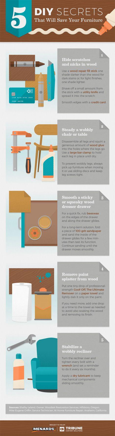 Make it With Menards Furniture Transformation Infographic