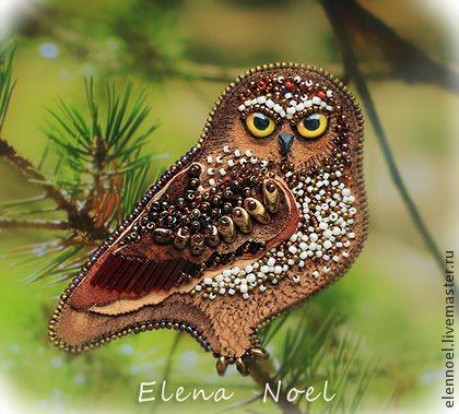 Handmade brooches. Fair Masters - handmade brooch Forest owl. Handmade.