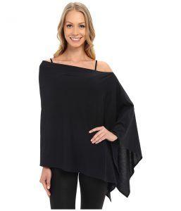 FIG Clothing Poptun Poncho (Black) Women's Coat