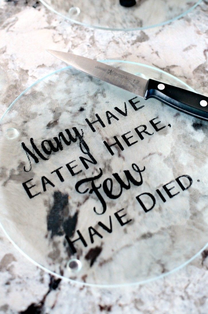 DIY Personalized Cutting Boards - These cutting boards are easy to make and add a little bit of humor into your kitchen.