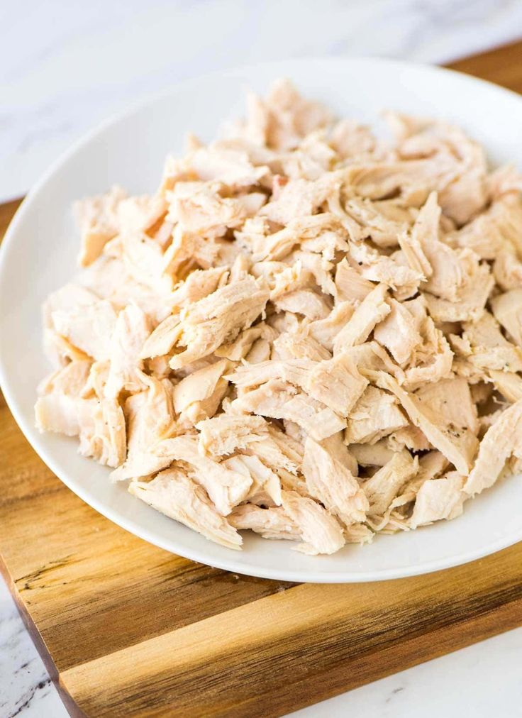 Use this easy method for making shredded chicken any time a recipe calls for diced or shredded chicken. Perfect for enchiladas, chicken salad, and more!