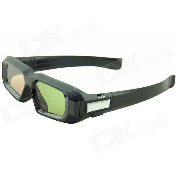 HW01 3D Rechargeable Active Shutter Glasses w/ Bluetooth for 3D Projector / TV + More - Black - From 49,= for Euro 32,05