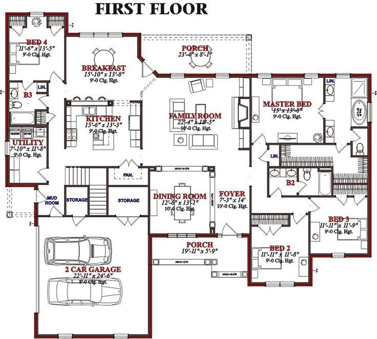 European Traditional House Plan 78623 Level One