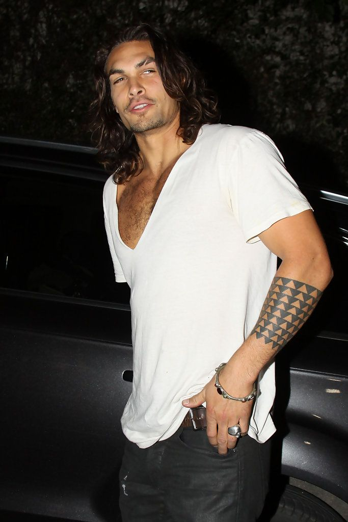 """Jan 21, 2020 - Jason Momoa Photos - EXCLUSIVE Burly model Jason Momoa, who has just been cast in """"Conan the Barbarian,"""" leaves Chateau Marmont. Jason's wife Lisa Bonet was still inside the hotel. The pair had met up with Lisa's daughter Zoe and her father (Lisa's ex- husband) musician Lenny Kravitz. - Jason Momoa Leave"""