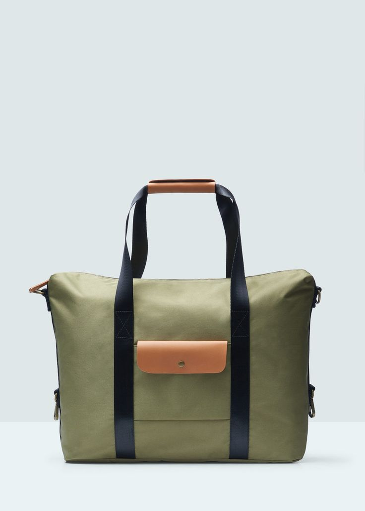 Pocket tote bag | MANGO MAN