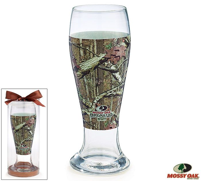 Enjoy a cold drink on the front porch with our #burtonandburton @mossyoak Camouflage Pilsner Glass. #thegreatoutdoors
