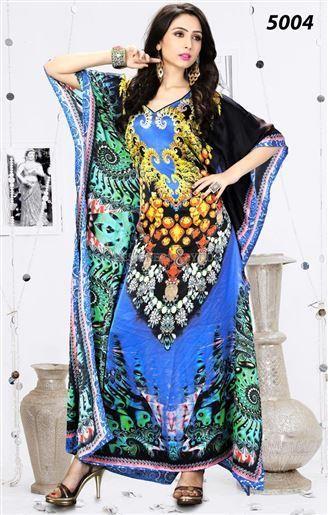 #Caftanpattern long kurti style super exclusive design of digital print Comprehensive caftan pattern for long kurti style that is patterned with super and #exclusivedesign of #digitalprint for beautiful girls. This #longkurti of 2016 is best for women to wear in summer.