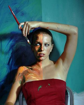 Disguise - AQA theme self portrait of Alexa Meade. www.dunottarschool.com