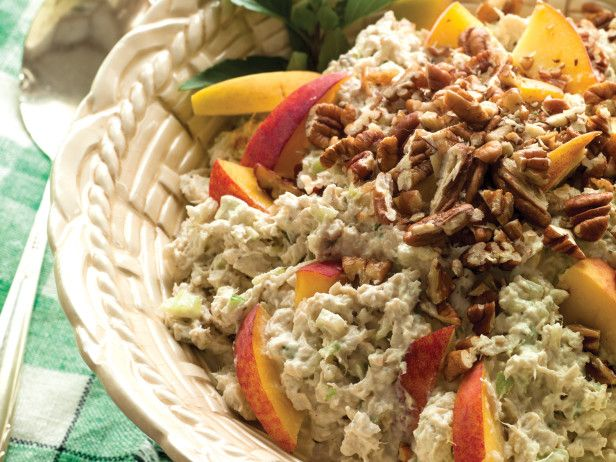 Farm-Fresh Peach and Pecan Chicken Salad --> http://www.hgtvgardens.com/recipes/outdoor-entertaining-tips-get-out-and-stay-out?soc=pinterest