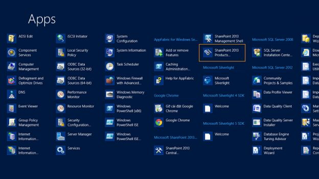 46. Click on SharePoint 2013 Products ...  from all apps