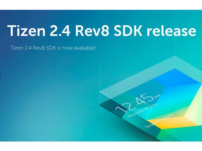 Tizen Software Development Kit (SDK) 2.4 Rev8 Released