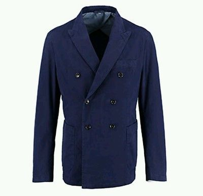 Hardy Amies Indigo Double Breasted Classic Fit Blazer RRP£395 BNWT