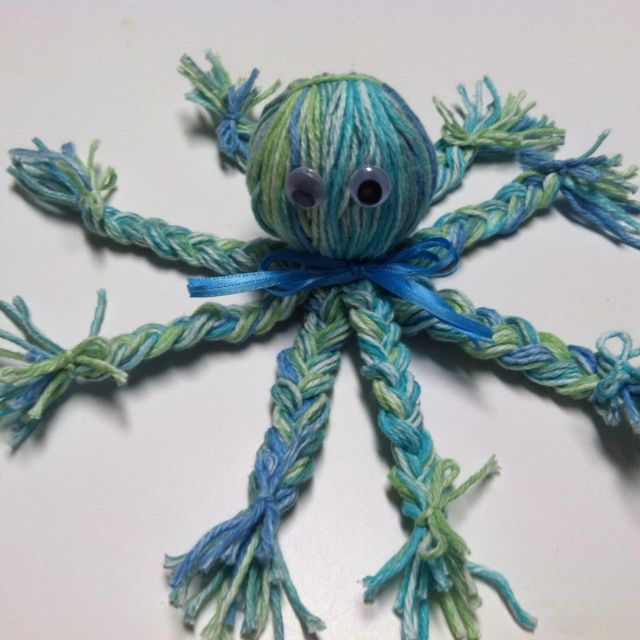Kidu0026 39 S Craft Yarn Octopus Crafts For Kids Pinterest