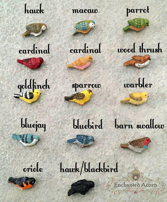 Fairy Garden Bird – Miniature Bird Yellow Gold Finch Mini Bird Fairy Friend Birdbath Fairies Dollhouse Birdhouse Cake Topper Goldfinch – Miniatures