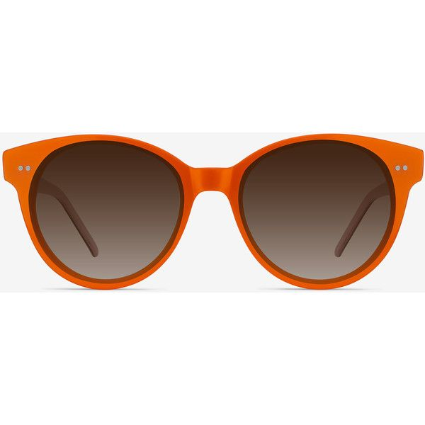 Women's Angie - Orange round - 12337 Rx Sunglasses ($35) ❤ liked on Polyvore featuring accessories, eyewear, sunglasses, round eyewear, marble sunglasses, round cat eye glasses, cat-eye glasses and rounded glasses