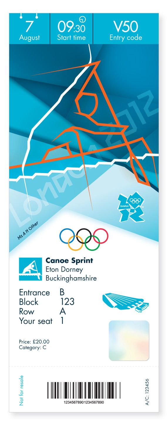 Creative Review Olympics ticket designs revealed in Brand Identity