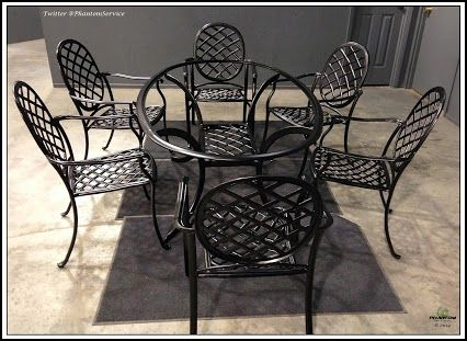 Patio Furniture Takes A Beating Outside! Powder Coating Makes It Look  Better Than New!