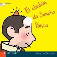 Los niños y las niñas descubrirán las travesuras de Sancho Panza. Las simpáticas imágenes tienen unos pequeños agujeros para que los niños y las niñas jueguen y animen los dibujos mientras se los leen. (0-4 años / 0-4 urte)
